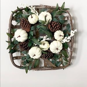 Pier 1 Festive Basket Wreath